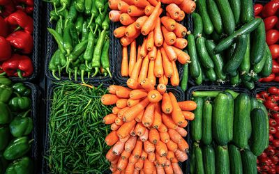 Fresh and coulourful vegetables