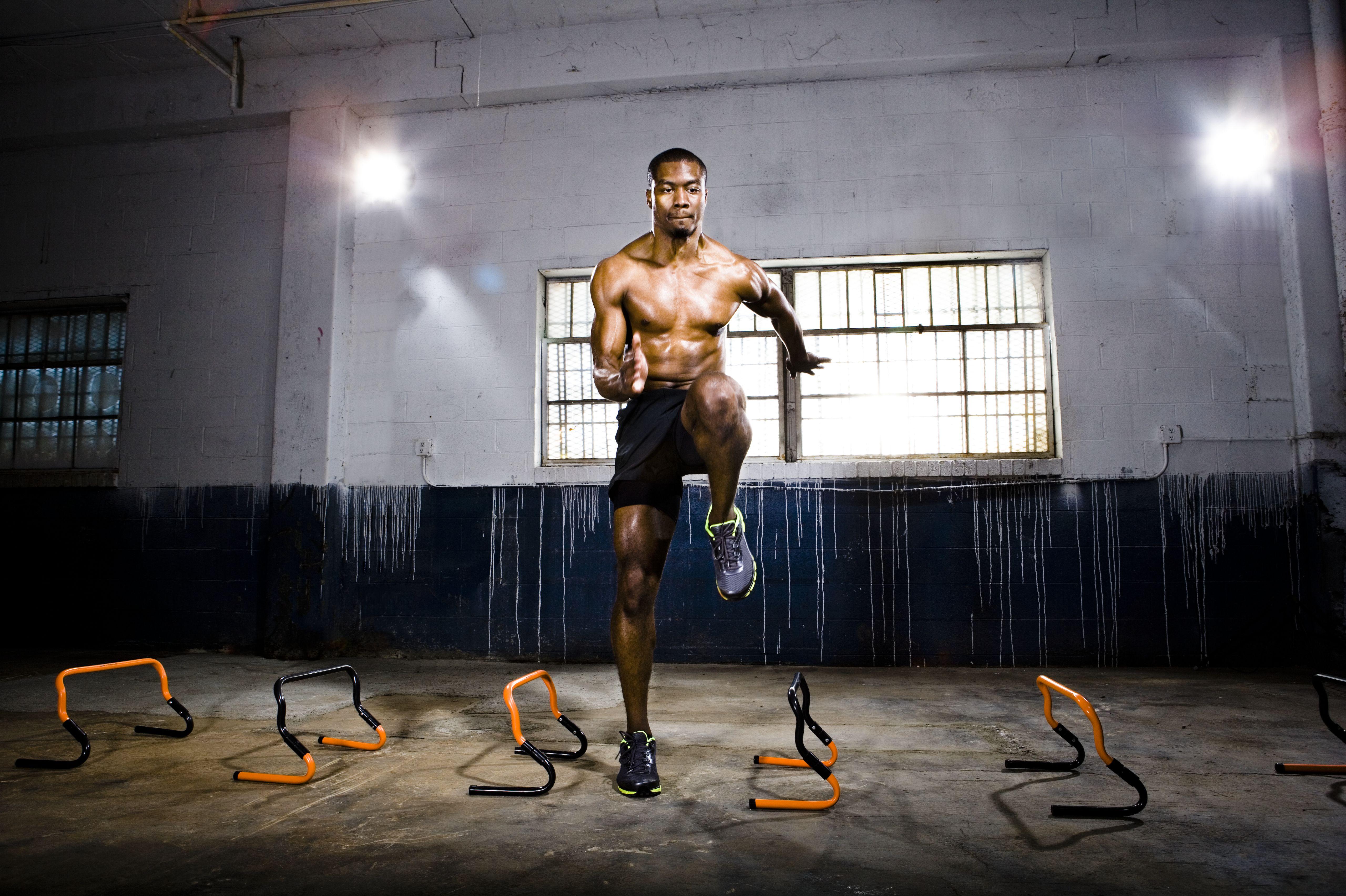 Entrenamiento de atletas con vallas de velocidad