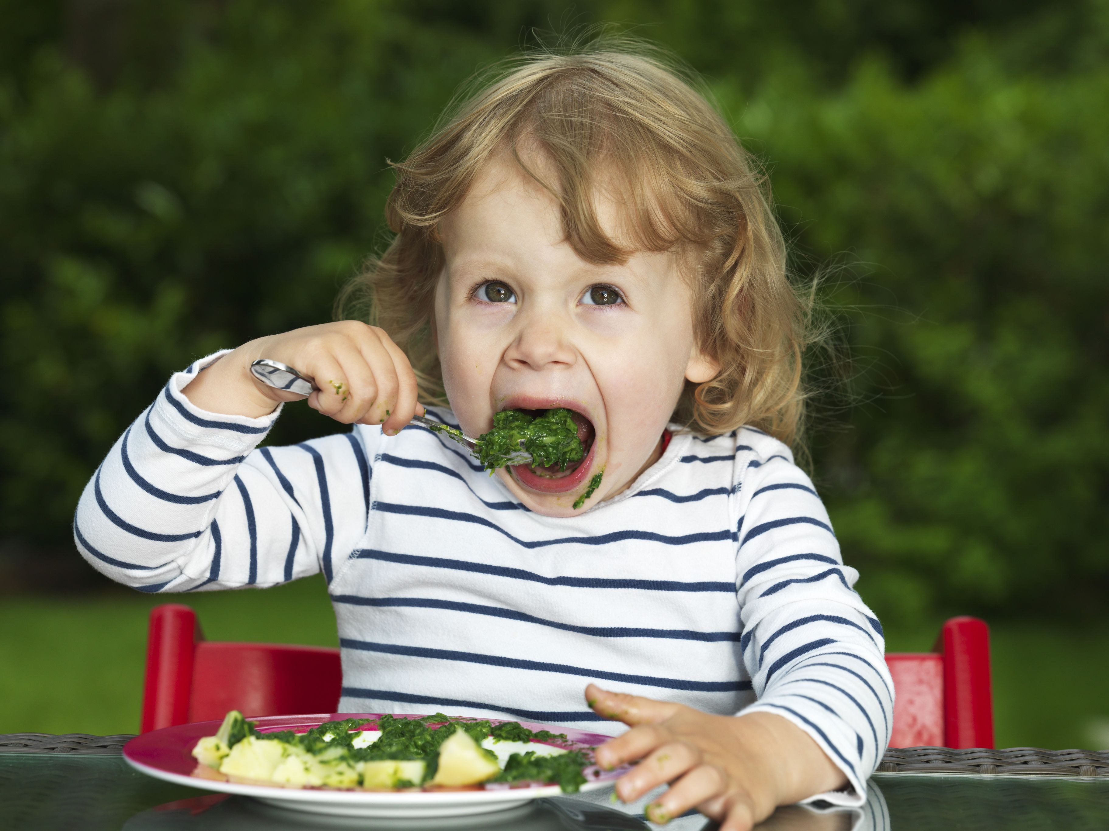 Toddlers need about one cup of vegetables per day.