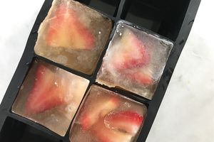 Strawberry Green Tea Ice Cubes