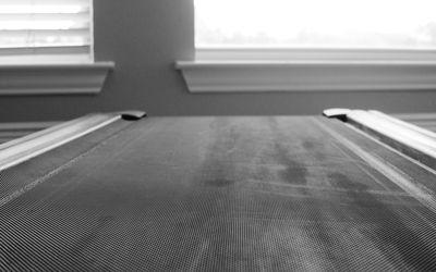 Close up of indoor treadmill machine