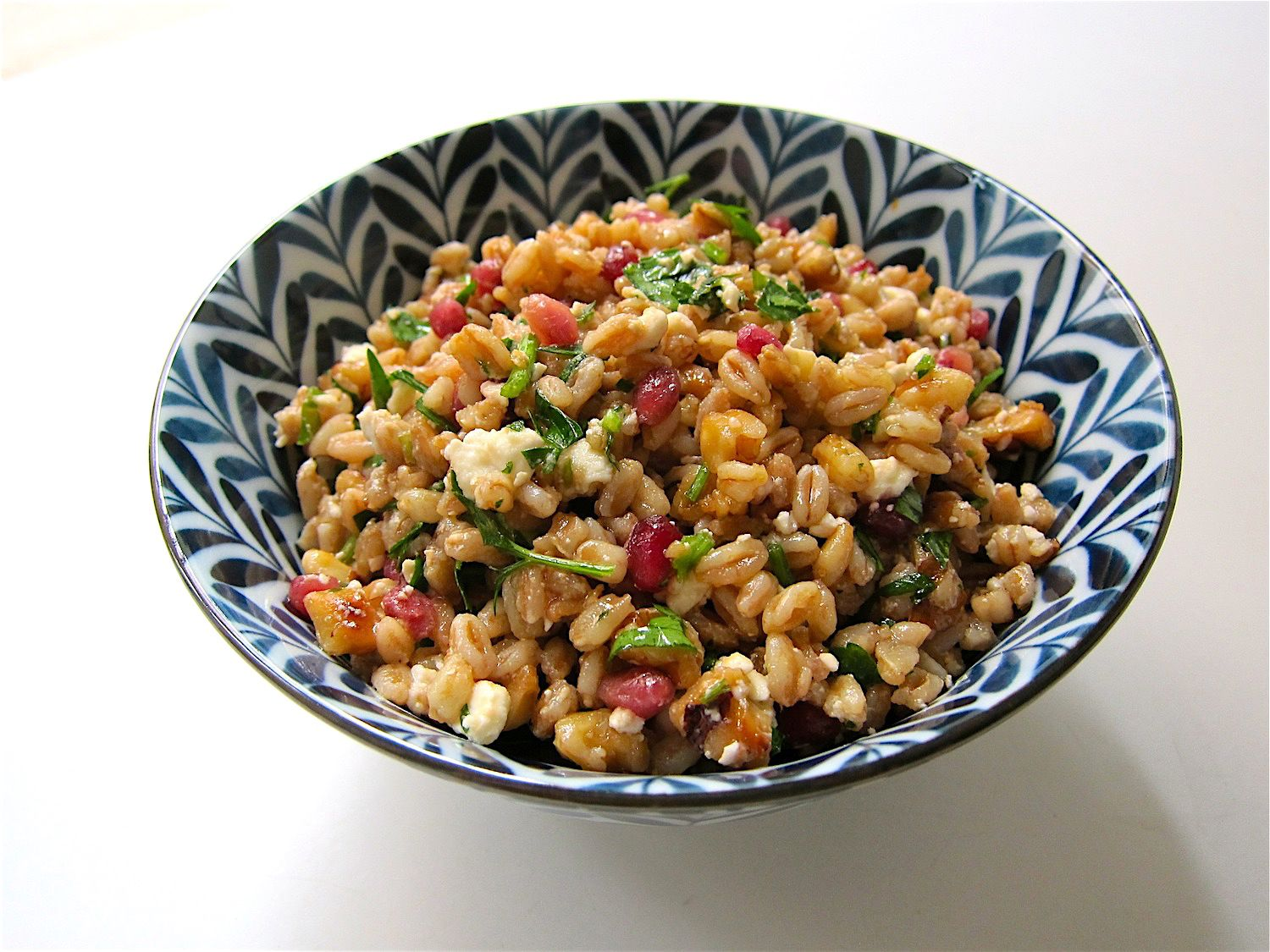 Herbed Farro Salad With Pomegranate and Feta