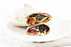mediterranean veggie wrap