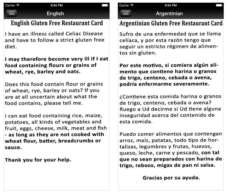 6 sources of gluten free restaurant cards gluten free restaurant cards app m4hsunfo