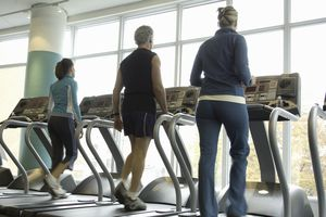 Three Treadmill Walkers