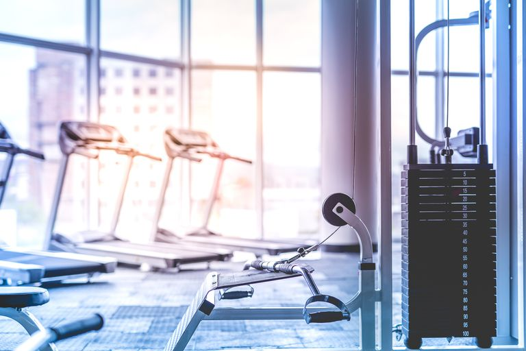The training apparatus in the fitness club