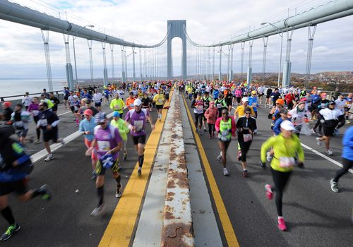 Corredores en el ING New York City Marathon en 2013