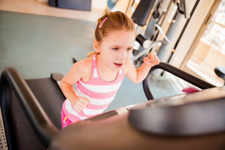 Little Girl on Treadmill
