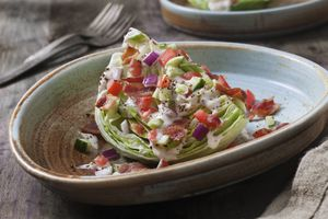 lettuce wedge with ranch dressing