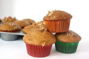 Vegan Apple Walnut Flax Muffins