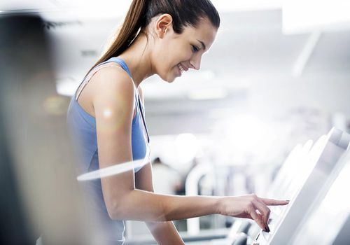 runner on treadmill