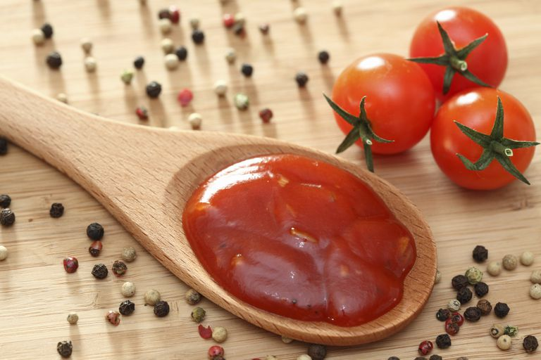 gluten-free ketchup on spoon