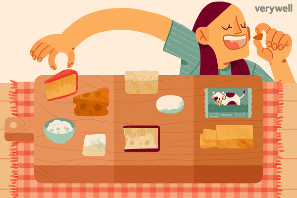 Girl eating from cheese board