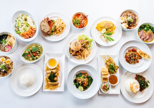 A variety of food options