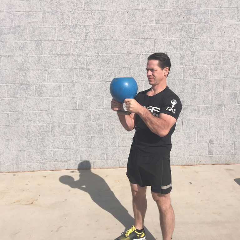 Kettlebell Halo Start Position