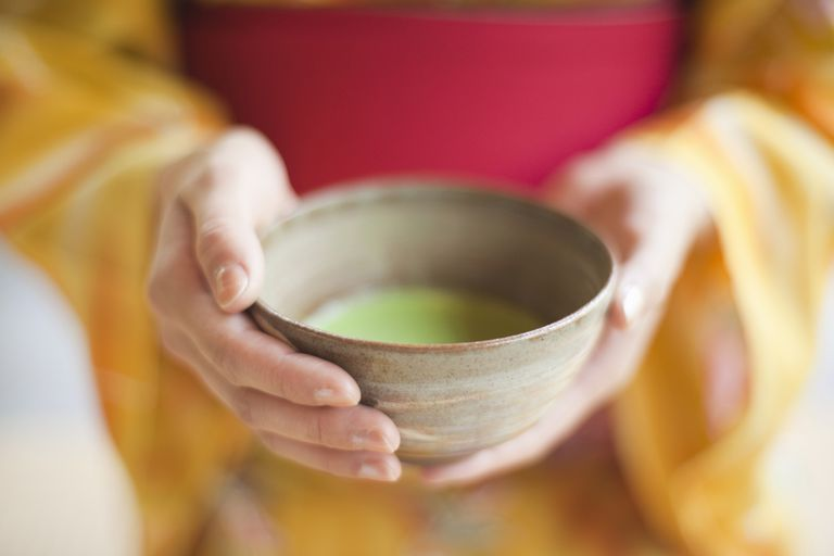Matcha tea in Japanese tea cup