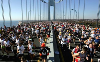 Runners compete at the New York City Marathon.