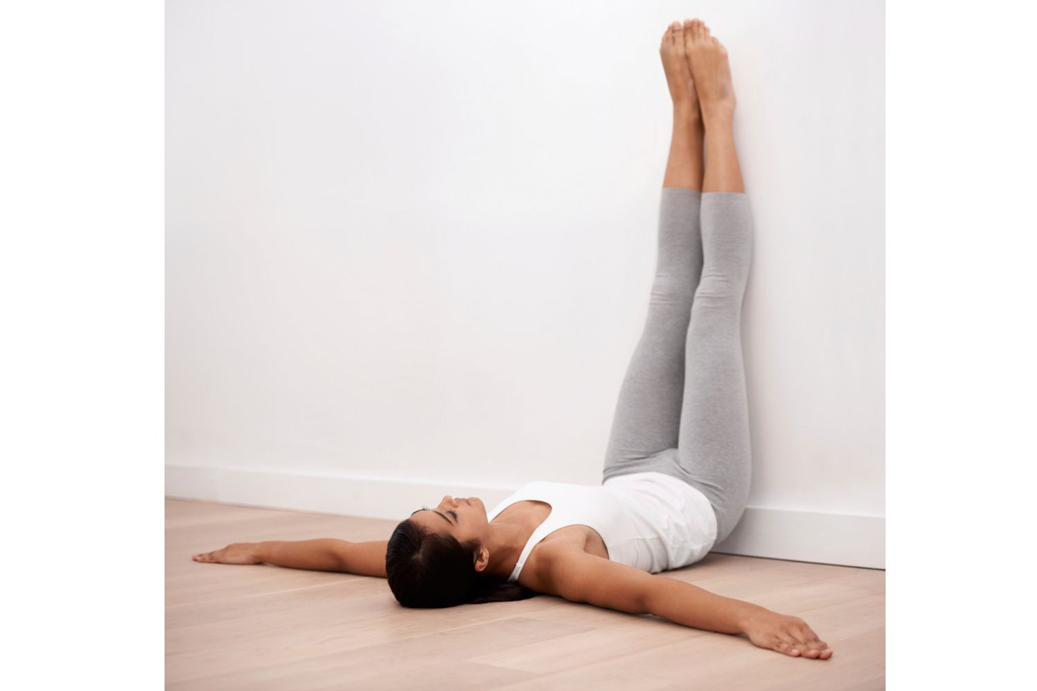 Legs Up the Wall for Yoga Cool Down