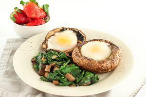 potabella mushroom baked eggs
