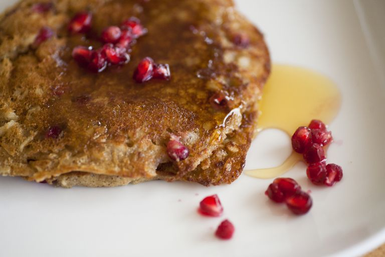 Whole Wheat Pancakes With Pomegranate