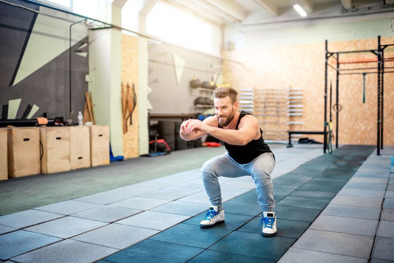 air squat AMRAP workout