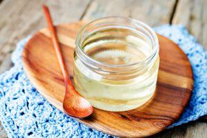 Homemade invert sugar in a glass jar