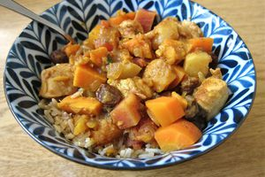 Moroccan Spiced Chicken and Root Vegetable Stew