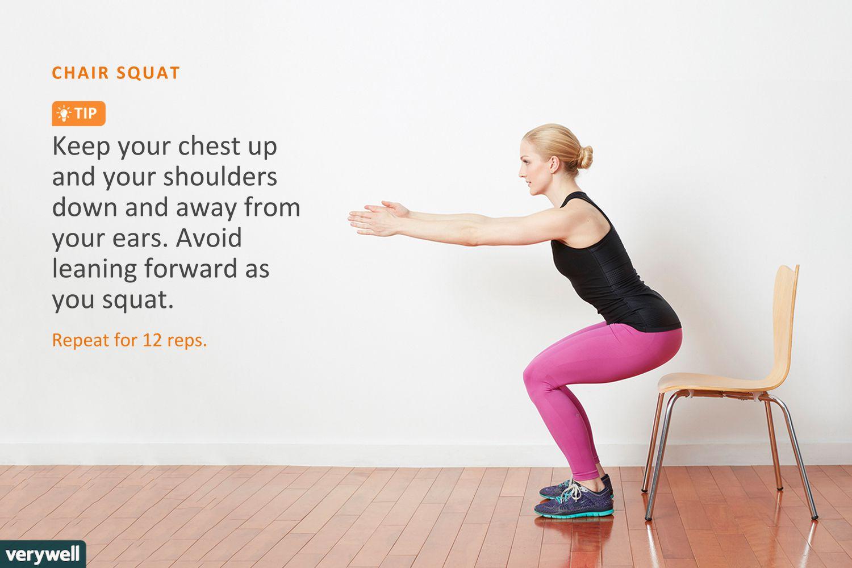 Total Body Strength Workout For Seniors Circuit Workouts Oregon Curcuit Ass Woman Doing Chair Squat
