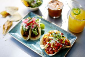 Fresh tacos on a plate