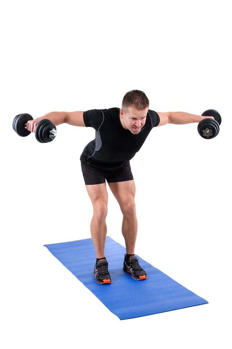 Standing Bent Over Dumbbell Reverse Fly Workout