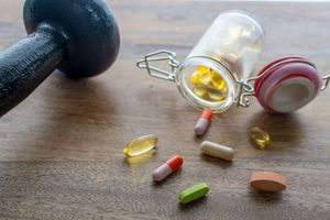 Muscle building with supplements