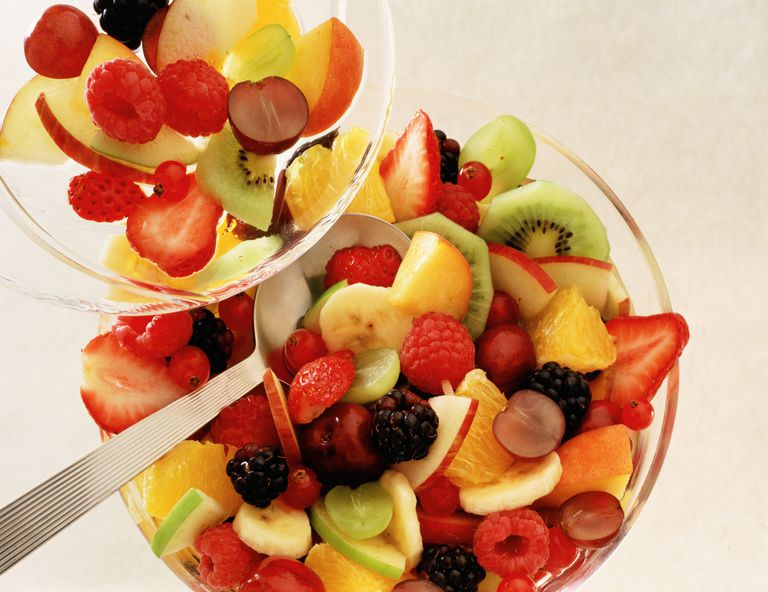 Fruit salad can be high in fiber.