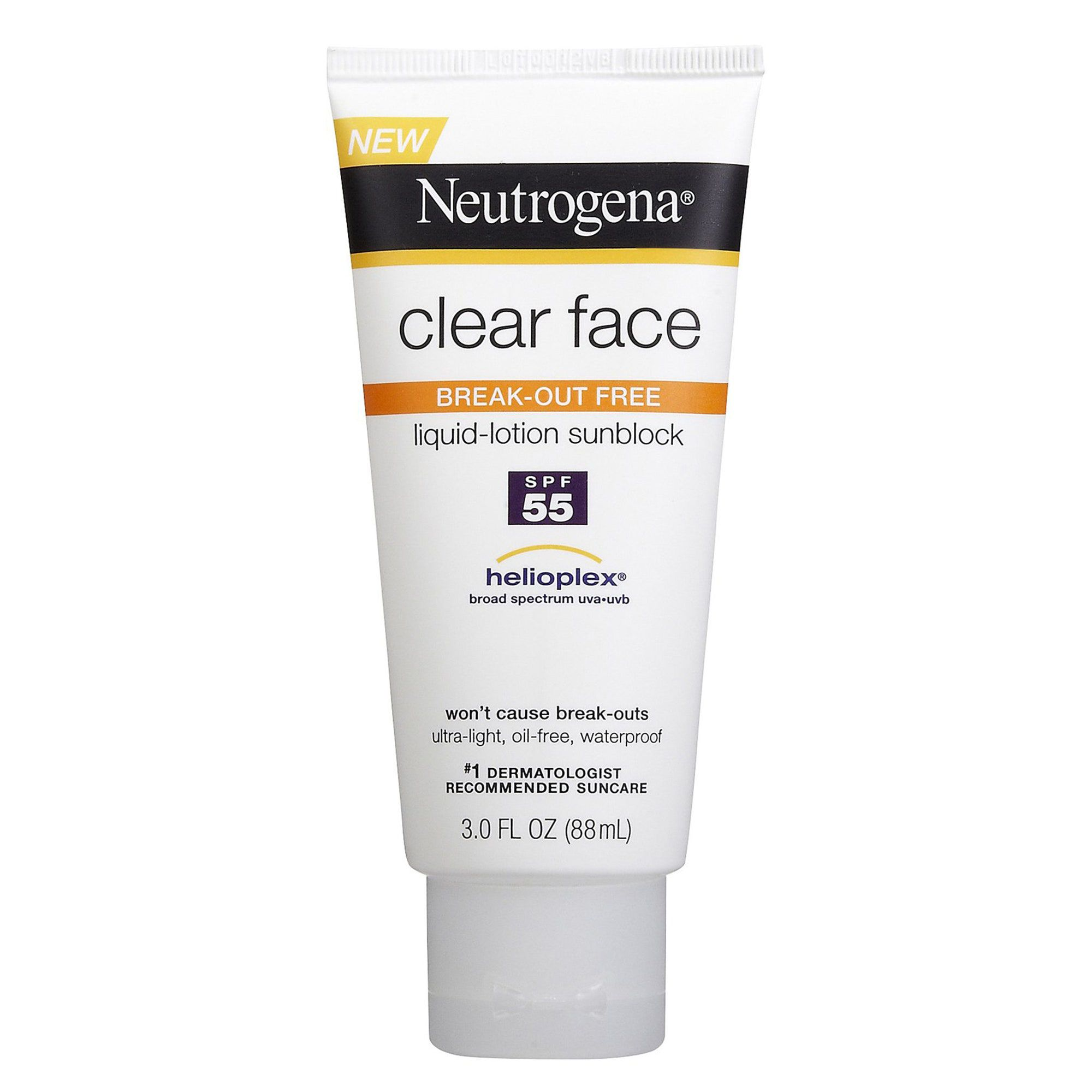 Neutrogena Clear Face Liquid Lotion Sunscreen for Acne-Prone Skin