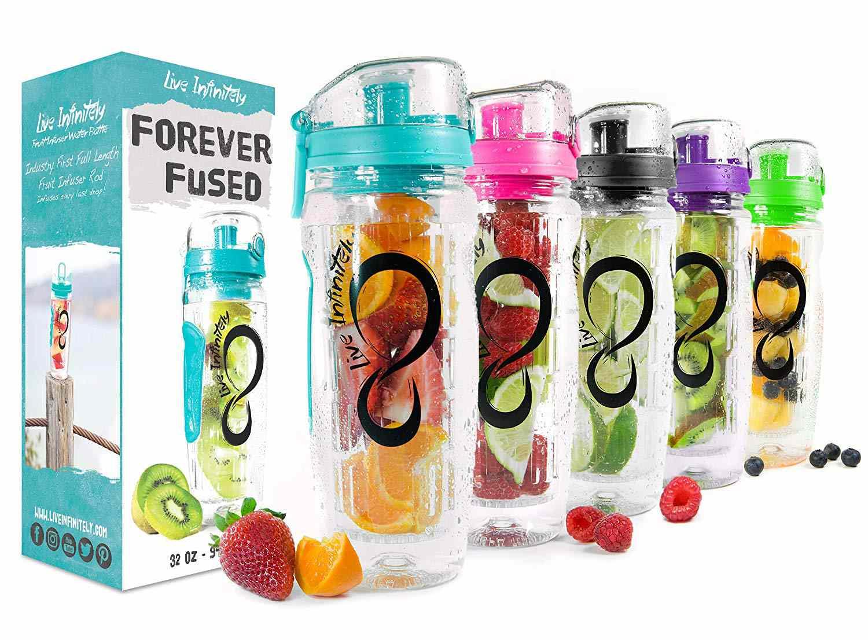 Infuser Water Bottle 10 x Water Bottle Fruit use Bottle Water Bottle Green