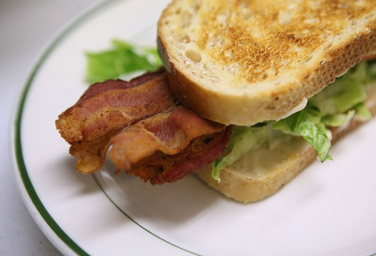 BLT on a plate