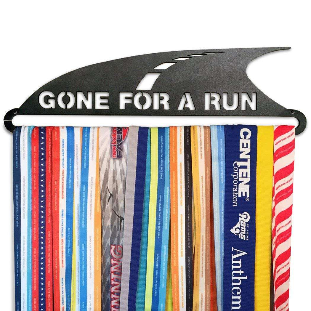 medal hanger that says gone for a run