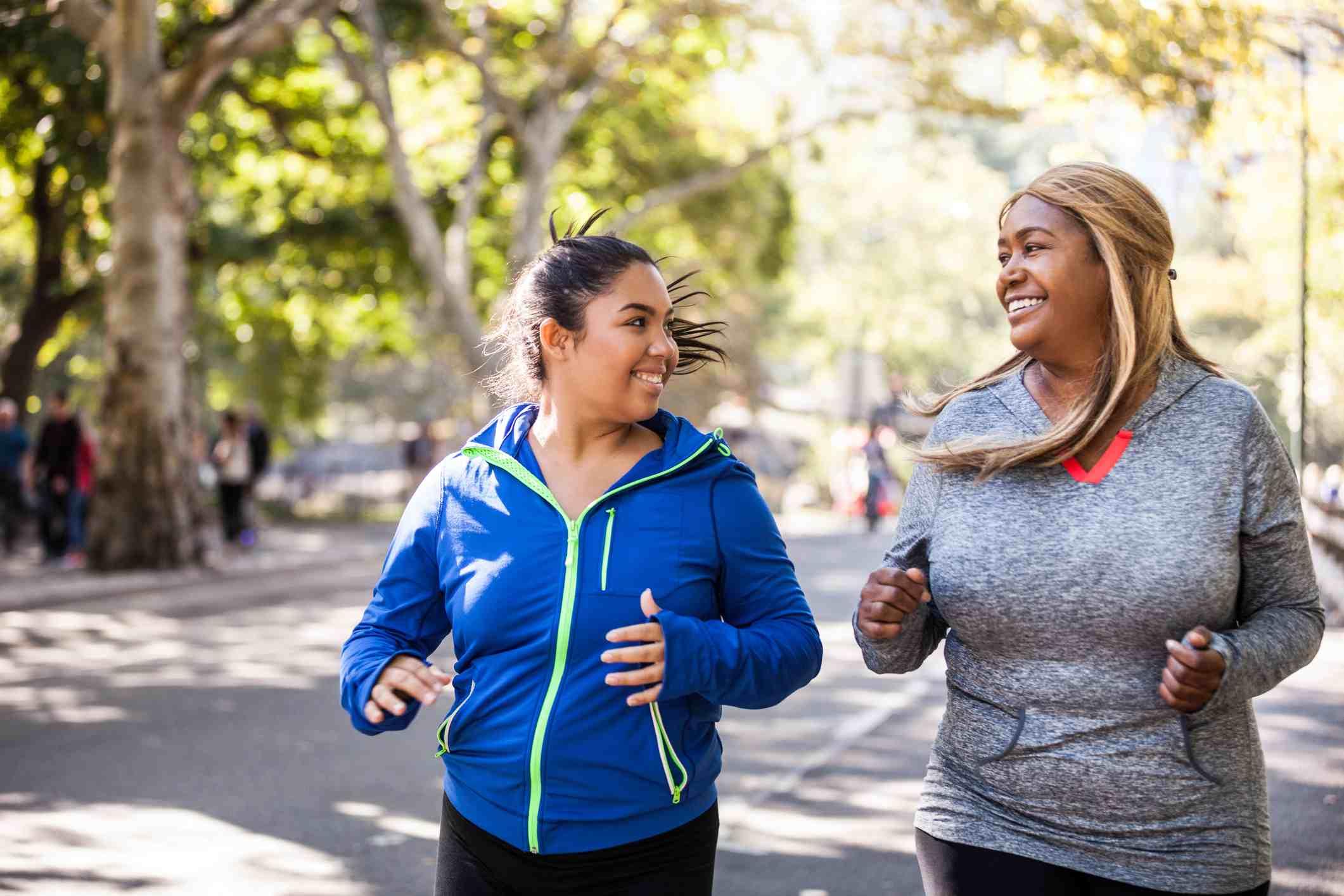Mujeres trotando en el Central Park de Nueva York