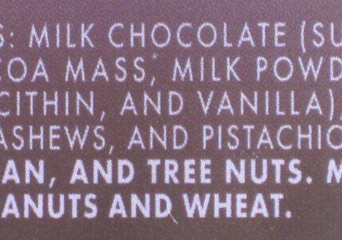 Etiqueta de ingredientes alimenticios