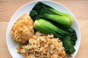 ginger chicken with bok choy