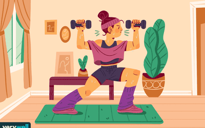 Women working out and sweating