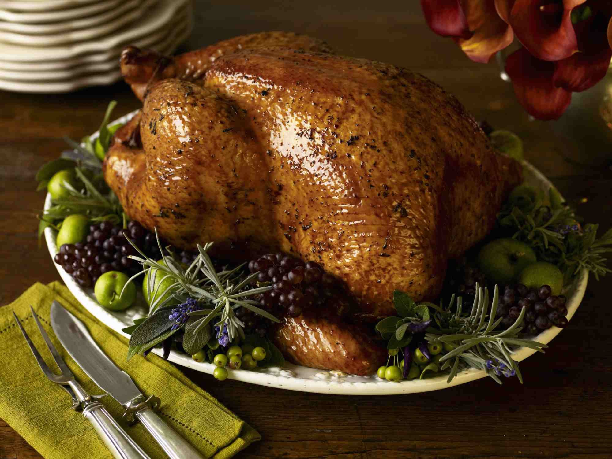 Turkey on a platter.