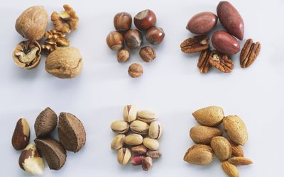 Nuts are high in magnesium.