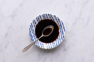soy sauce in a bowl