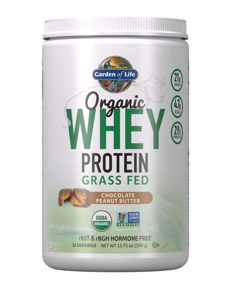Garden of Life Organic Grass Fed Whey Protein Powder