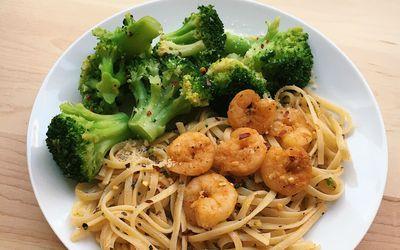shrimp linguine pasta dinner
