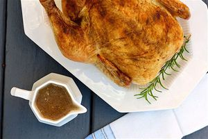 roasted chicken and gravy