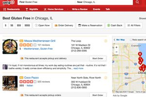 gluten-free listings on yelp