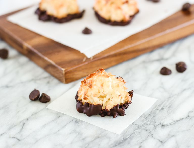 Dark Chocolate Dipped Coconut Macaroons