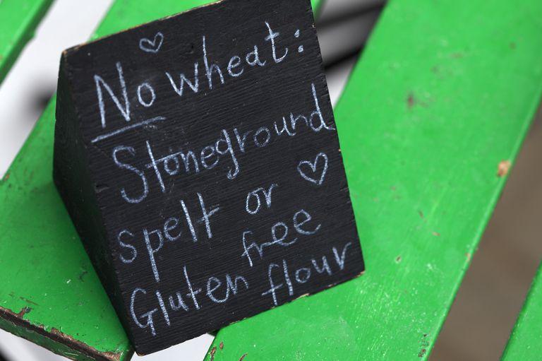 No wheat (Gluten free) sign