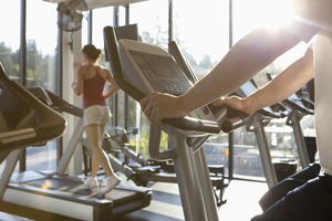 People exercising in health club